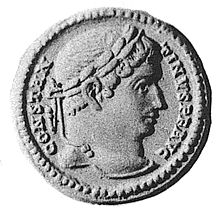 Coin depicting Constantine