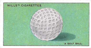 Cigarette card depicting a golf ball
